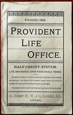 Provident Life Office, Nortons Camomile Pills Antique Antique Ad Booklet 1880's