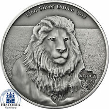 Gabun 1000 Francs 2013 Löwe Antique Finish Lion Silver Ounce