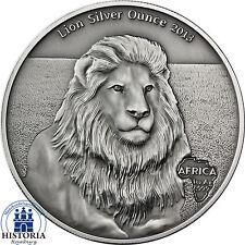 África serie: gabón 1000 francos CFA plata 2013 león-Lion Silver ounce