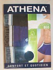 lot de 3 boxers Athena neufs taille 6/XXL en coton bio