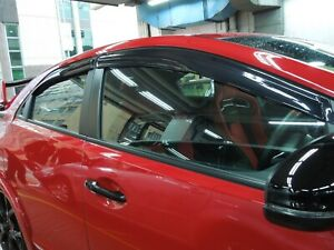 Rain Window Visor Wind Shield for 2012-16 Honda Civic 5Dr Hatchback FK1 FK2 R