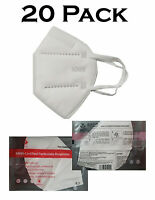 20 KN95 Foldable 4-Layer Protective Face Masks Florida Shipper