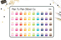 1016~~Birthday Cake Party Planner Stickers.