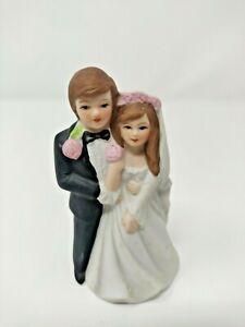 Vintage Semder New York Bride and Groom Porcelain Bisque Cake Topper
