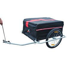 Outsunny-Rimorchio per bicicletta carrello carrellino per bici nero e rosso