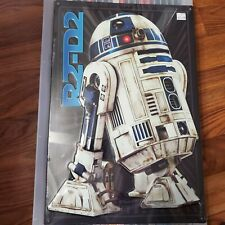 Star Wars R2D2 Droid Textured Embossed Metal Sign 12x18 Battle Scars OA1C19