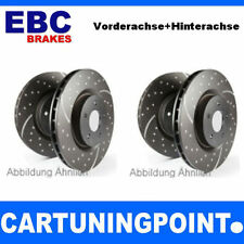 EBC Brake Discs Front & REAR AXLE TURBO GROOVE FOR JEEP GRAND CHEROKEE 1 Z GD906