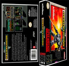 Mechwarrior - SNES Reproduction Art Case/Box No Game. Super Nintendo
