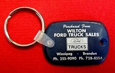 Wilton Ford Truck Sales Ford Dealership Keychain Winnipeg 1970s vintage msu3