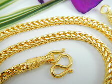 """Classy Braided Rope 24.5"""" Baht Chain 22K 24K Gold Gp Thai Necklace Jewelry Gt51"""
