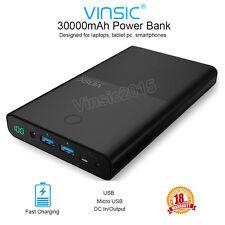 Vinsic 30000mAh Batterie externe Chargeur DC/USB chargement power bank batterie