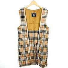 "Vintage Burberry Wool Liner Nova Check Coat Mac Full Zip Size Small 21"" PTP  #28"