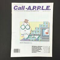 Vintage Apple II IIGS Computer Call A.P.P.L.E. Magazine, Advanced Users Apr 1989