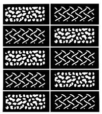 Nail Art Vinyl Stencil Guide Sticker Manicure Hollow Template