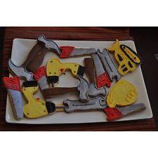 Fox Run 6 Piece Construction Cookie Cutter Set Hammer Drill Tractor Hard Hat ++