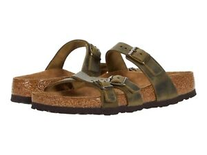 Women's Shoes Birkenstock FRANCA Oiled Leather Sandals 1019958 JADE
