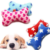 Durable Dog Pet Puppy Latex Chew Sound Squeaker Squeaky Training Toy Bone Pillow