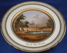 Antique Porcelain de Paris Named Scene Scenic Plate Porcelaine Assiette Vieux #1