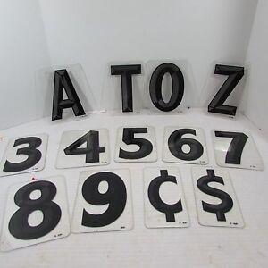 "Wagner Zip-Change Changeable Outdoor Sign 6"" Letter Number Symbol Black 3D inch"