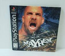 WCW Mayhem (Sony PlayStation 1, PS1) - Manual / Instruction Book ONLY