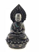 CHINA  - ANTIKE BUDDHA SKULPTUR MASSIVE BRONZE