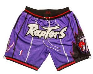 New Toronto Raptors Purple Retro Men Basketball Shorts Size:S-XXL