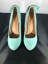 Miss Selfridge Mint green High Heels Bow Detail On Back UK 8 BN