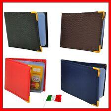 ✅ Portafoglio Porta Carte di Credito e Tessere Slim in Pelle 20 tasche scomparti