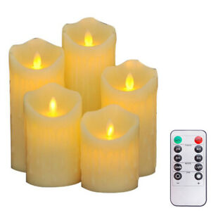 High Quality Flameless LED Candles Flickering Battery Tea Lights Remote Control