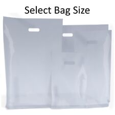 CLEAR PLASTIC BAGS / GIFT SHOP CARRIER BAG / BOUTIQUE RETAIL - SMALL & LARGE