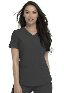 """Dickies Retro  #780 V-Neck Detailed Scrub Top in """"Pewter"""" Size M"""