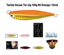 TACKLE HOUSE Tai Jig 100g / 80mm #4/ 1 x pk DECOY DJ-88 /1/0 assist hooks as pic