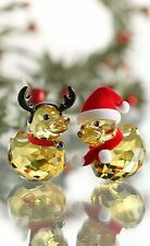 SWAROVSKI HAPPY Ducks Santa et renne 5004497 Comme neuf boxed RETRAITÉ RARE