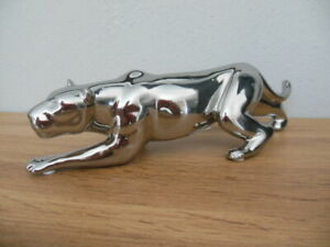 Casablanca Dekofigur Skulptur Panther Raubkatze Silberfarben ca 22cm -Neu!