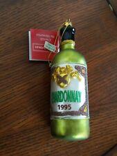 TJ's Christmas Ornament Chardonnay Wine Bottle