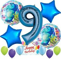 Monsters University Party Supplies Balloon Decoration Bundle for 9th Birthday