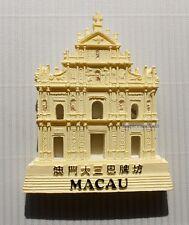 TOURIST SOUVENIR 3D TRAVEL FRIDGE MAGNET --- Ruins of St. Paul , Macao / Macau