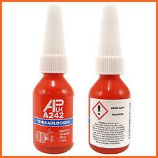 New APUK A 242 10 ml bottle Like Loctite Threadlocker Medium Strength blue 10ml