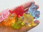 6 Dinosaur Triceratops pendants random mixed acrylic A