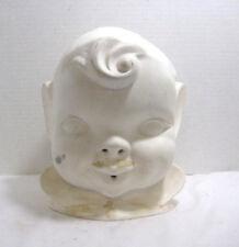 Vintage Porcelain Bisque Ready to Paint Boy Child Head Face Bust Steampunk Craft