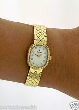 Concord Wrist Watch 120841 14K Yellow Gold Diamond Dial Bezel White Face
