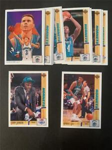 1991/92 Upper Deck Charlotte Hornets Team Set 18 Cards