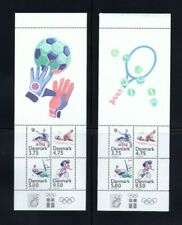 Denmark 1048a MNH TWO Booklet Panes SPORTS