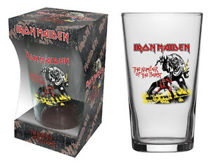 IRON MAIDEN BIERGLAS BEER GLASS THE NUMBER OF THE BEAST PINT 570 ml