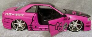 Jada Toys Hello Kitty 1/ 24  Scale Nissan Skyline (2002) For Parts Or Repair