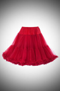 Knee Length CHIFFON NYLON Crinoline Petticoat sm/med/lar made  USA  red