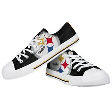 Pittsburgh Steelers NFL Men's Low Top Big Logo Canvas Shoes FREE SHIP