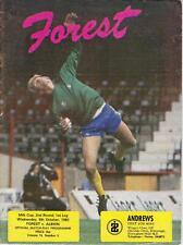 Nottingham Forest v West Brom programme, 1982-83
