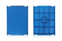 12x fabrikneue Deckel D45 für KLT 400x300, 2.Wahl