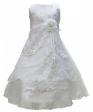 Kids Flower Girls Party Sequins Dress Wedding Bridesmaid Dresses Princess 2-12 Y